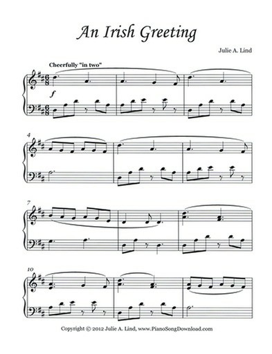 An Irish Greeting: Piano solo