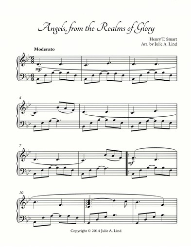 Angels from the Realms of Glory: Free sheet music