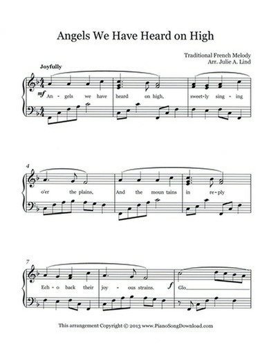 Angels We Have Heard on High Free Sheet Music