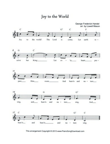 Joy to the World: free lead sheet