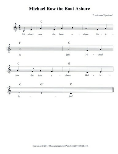 Michael Row the Boat Ashore: free lead sheet