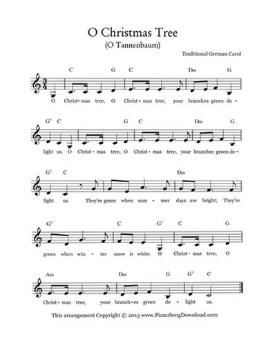 o christmas tree lead sheet