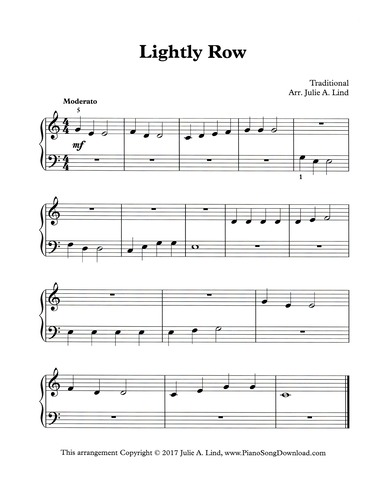 top lightly row piano notes with letters images for lightly row free easy piano sheet 763