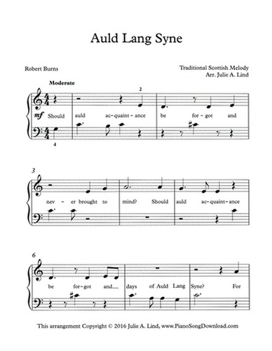 auld lang syne - New Year's Eve Song